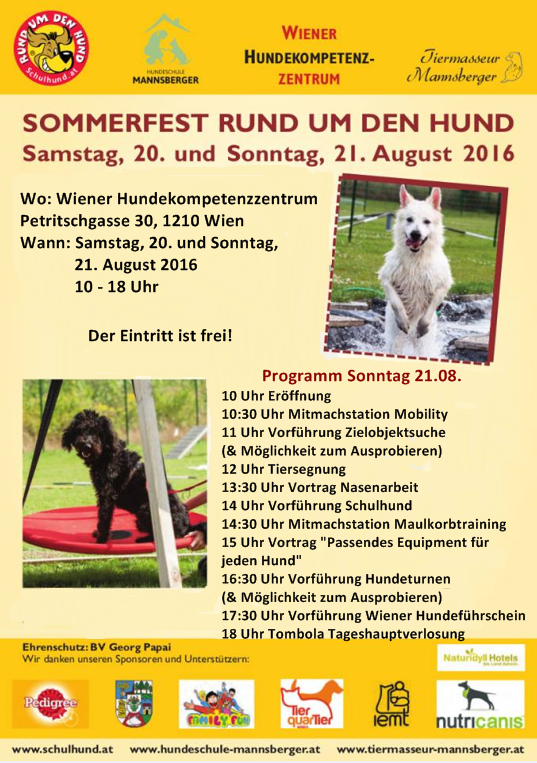 Sommerfest Sonntag Programm